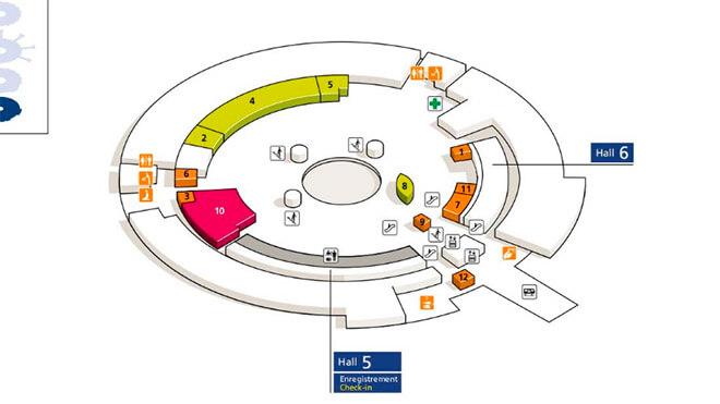 Схема первого этажа первого терминала.