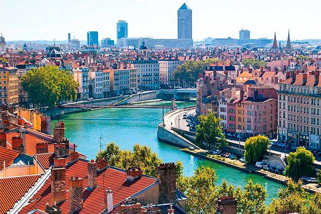 Город Лион в Франции